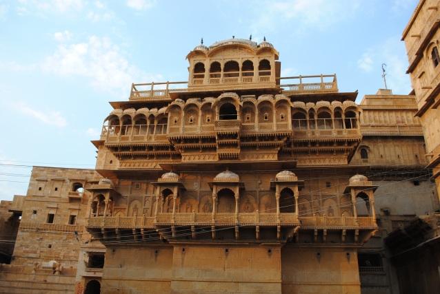 The exterior of the Raj Mahal or Royal Palace