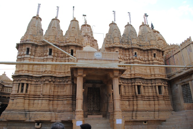 The Jain temple inside the fort.