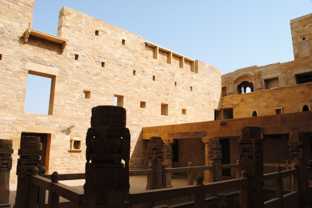 A courtyard inside the palace