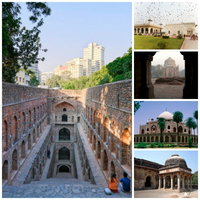 Just a small glimpse of the monuments in Delhi, most of them have their own open spaces, ideal to while away time on a winter afternoon. Image courtesy: Corbis and Wikipedia